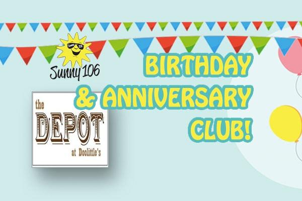 Sunny 106 Birthday Club